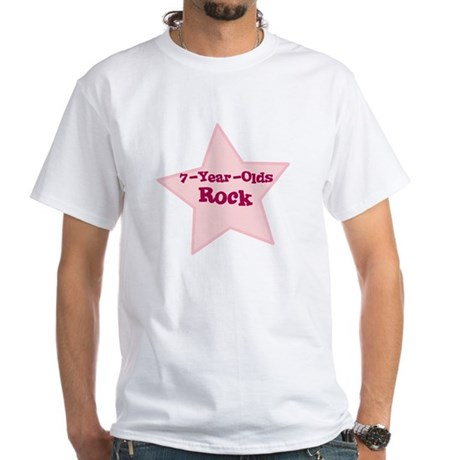 7-Year-Olds Rock White T-Shirt