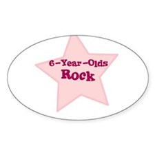 6-Year-Olds Rock Oval Decal