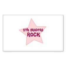 5th Graders Rock Rectangle Decal