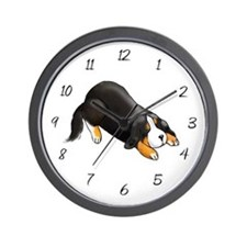 Sleepy Bernese Mountain Dog Wall Clock