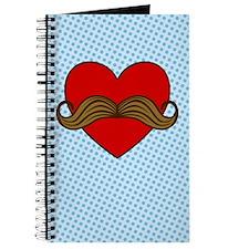 Moustache Valentine Heart Journal