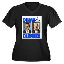 Dumb and Dumber Women's Plus Size V-Neck Dark T-Sh