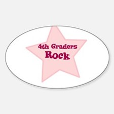 4th Graders Rock Oval Decal