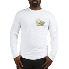 Fake Money Pocket Long Sleeve T-Shirt