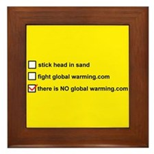 Unique There is no global warming Framed Tile