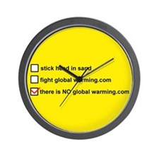 Cute There is no global warming Wall Clock