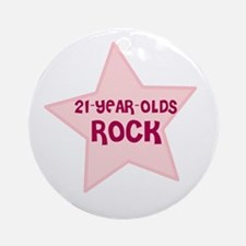 21-Year-Olds Rock Ornament (Round)