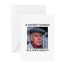 grumpygerman4 copy Greeting Cards