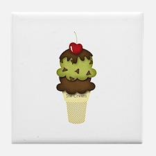 yummy icecream Tile Coaster
