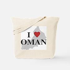 I Love Oman Tote Bag