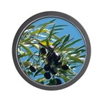 Wine Country Olives Wall Clock