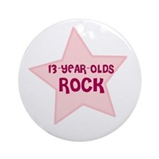 13-Year-Olds Rock Ornament (Round)