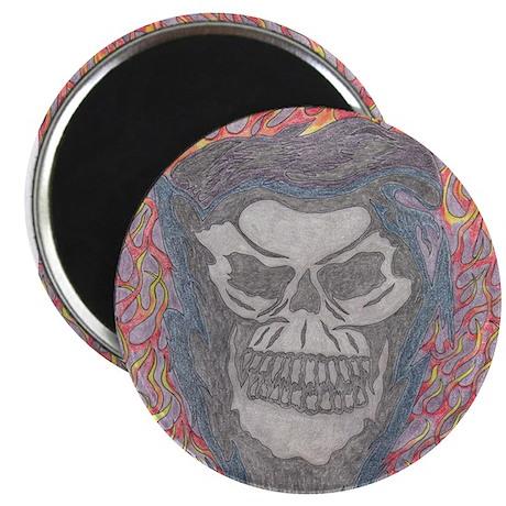 Skull & Flames Magnet