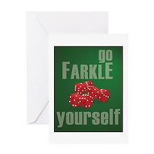 Unique Farkle Greeting Card