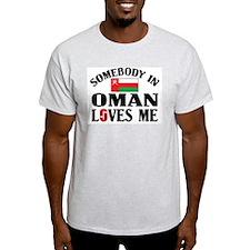 Somebody In Oman Ash Grey T-Shirt