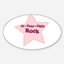 12-Year-Olds Rock Oval Decal