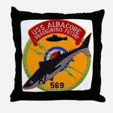 USS ALBACORE Throw Pillow