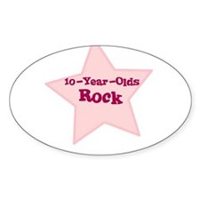 10-Year-Olds Rock Oval Decal
