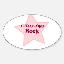 1-Year-Olds Rock Oval Decal