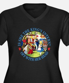 IS SHE THE KING'S INTERN? Women's Plus Size V-Neck