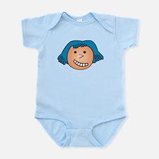 CRAZYFISH smiley girl Infant Bodysuit