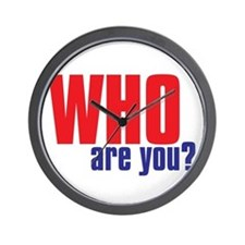 WHO ARE YOU Wall Clock