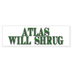 Atlas Will Shrug Bumper Bumper Sticker