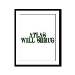Atlas Will Shrug Framed Panel Print