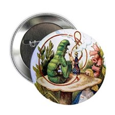 """ALICE & THE CATERPILLAR 2.25"""" Button (10 pack)"""