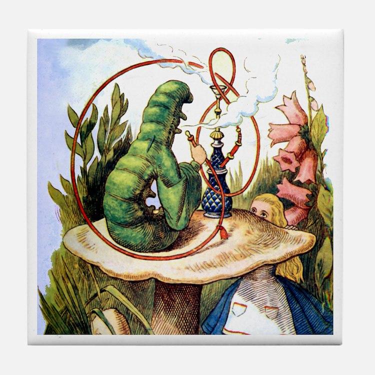 ALICE & THE CATERPILLAR Tile Coaster