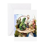 ALICE & THE CATERPILLAR Greeting Card