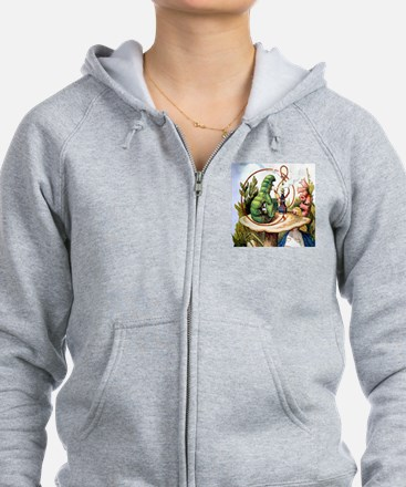 ALICE & THE CATERPILLAR Zipped Hoody