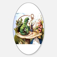 ALICE & THE CATERPILLAR Oval Decal