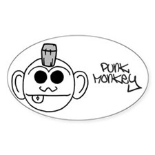 Punk Monkey Oval Decal