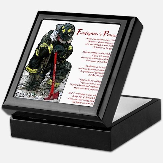 Firefighter Prayer Keepsake Box