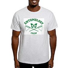 Ento Crew Green Ash Grey T-Shirt