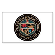 City of San Buenaventura Cali Rectangle Decal