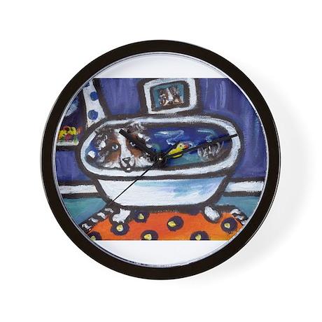 Australian Shepherd blue oran Wall Clock