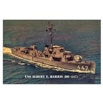 USS ALBERT T. HARRIS Large Poster