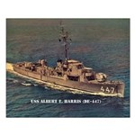 USS ALBERT T. HARRIS Small Poster