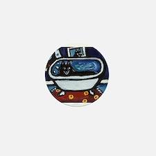 Schipperke bath moon smile Mini Button