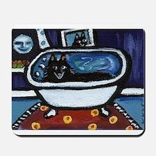 Schipperke bath moon smile Mousepad