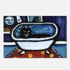 Schipperke bath moon smile Postcards (Package of 8