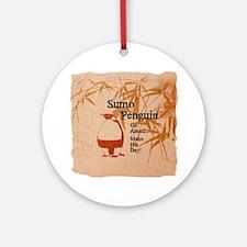 Sumo Penguin Ornament (Round)