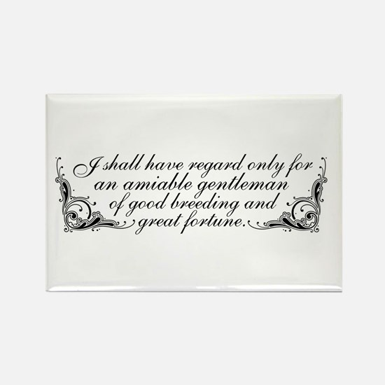 Jane Austen Inspired Rectangle Magnet (10 pack)