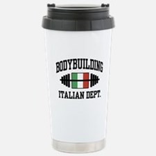 Italian Bodybuilding Stainless Steel Travel Mug