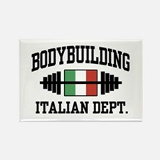 Italian Bodybuilding Rectangle Magnet