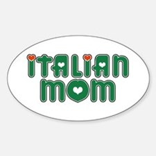 Italian Mom Oval Decal