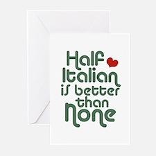 Half Italian Greeting Cards (Pk of 10)