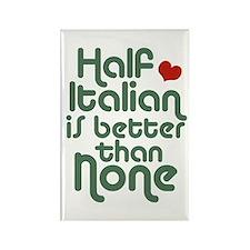 Half Italian Rectangle Magnet